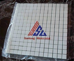Pure White Artificial Crystal Glass Stone Mosaics