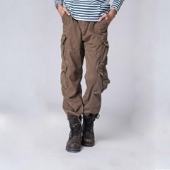 wholesale military style mens cheap khaki baggy cargo pants