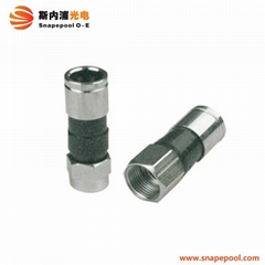 catv coaxial cable rg6 compression f connector