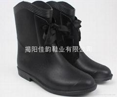 雨鞋水晶馬丁鞋女段