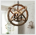 Modern Coffee Shop Bar rope chandeliers