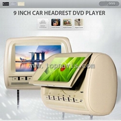 9 inch headrest dvd player with touch screen or digital panel  3 colors