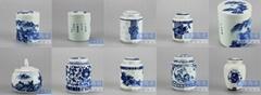 手繪景德鎮陶瓷茶葉罐