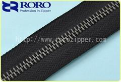 2014 New No.5 gun metal Y teeth zipper for handbag or garment