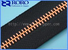 2014 New!!! 5# rose gold Y teeth handbag zipper wholesaler