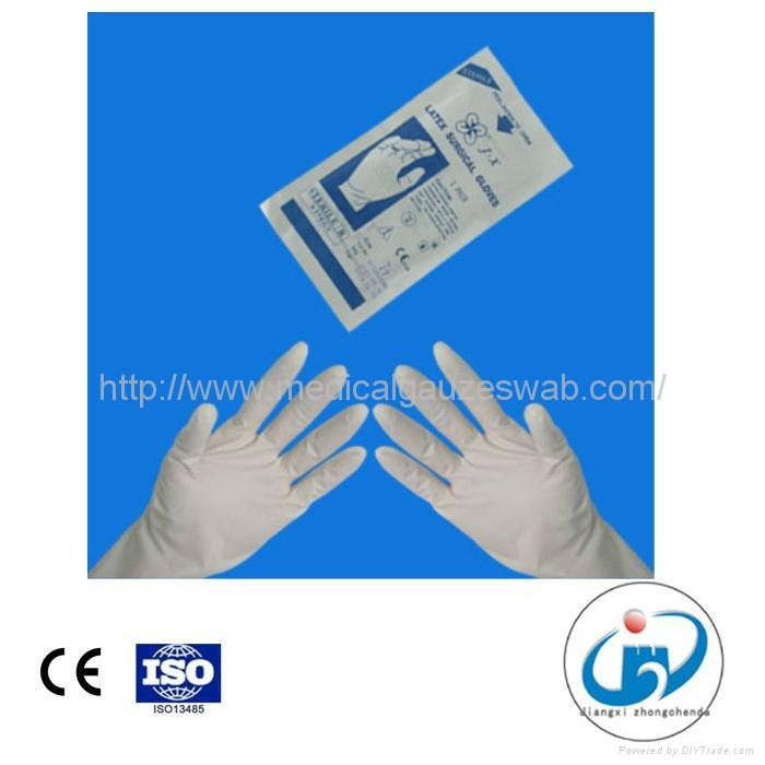 medical disposable sterile surgical lates gloves 1