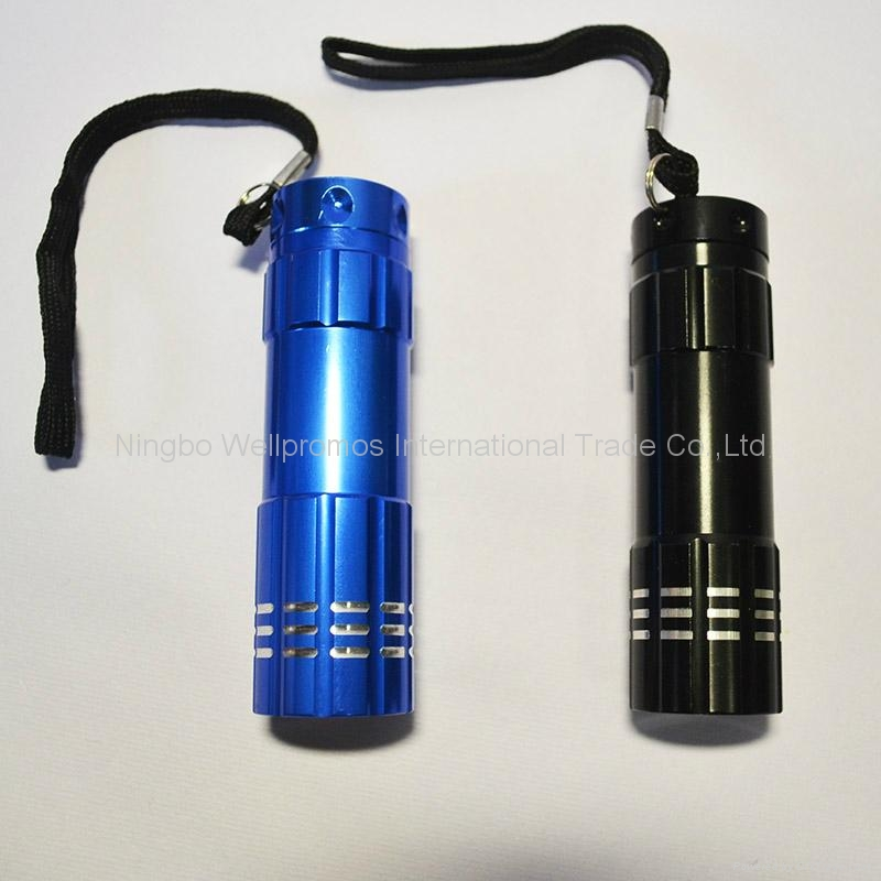 mini pocket handheld led torch 9 led promotional flashlight 3