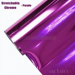 1.52*20m Stretch Chrome PVC Vinyl Flim Adhesive Cars/Stretchable Chrome Wrap Vin