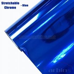 1.52*20m Blue Stretch Chrome PVC Vinyl Flim Adhesive Cars
