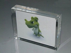 magnetic crystal photo frame,5 inches acrylic photo frame