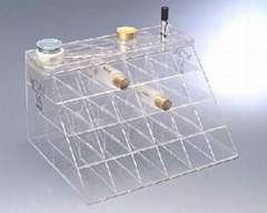 acrylic single tier nail polish oil rack,plaid pavans nail polish oil rack