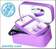 2014new design antique purple leather jewelry box factory