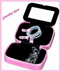 Pink princess hot sale fashion  leather jewerly box manufacturery