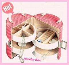 Pink princess fashion leather jewelry box factory
