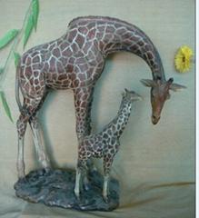長頸鹿動物雕塑擺件