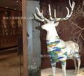 梅花鹿动物玻璃钢雕塑像
