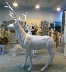 亮光歡馴鹿動物雕塑擺件