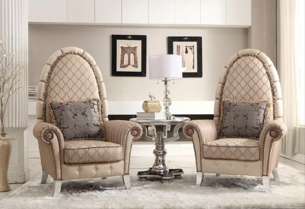Neo classical style solid wooden luxury chairs living Luxury wood furniture