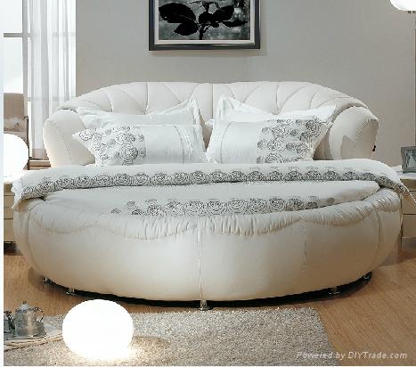 Modern Romantic Genuine Leather Snow White Double Round