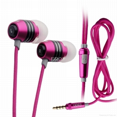 Metal band phone headset microphone microphone cd mp3 mp4 music hifi headphones