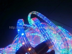 multi colored led rope lights blue/multicolour/orange(3wires)