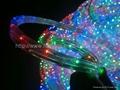 multi colored led rope lights blue/multicolour/orange(3wires) 2