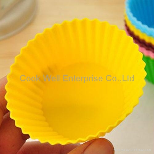 Food grade customized silicone muffin mould 3
