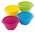 Kitchen tools Silicone vergatable colander silicone collapsible strainer  2