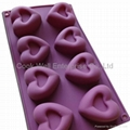 food grade heart shape silicone muffin