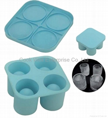 Silicone Ice Shot Tray Silicone ice cup makers