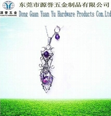2014 fashion purple crystal necklace jewelry