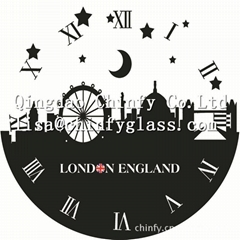 House Decoration& Glass wall clock