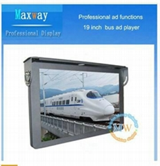 19 inch lcd bus player support WiFi or 3G netowrk
