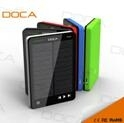 DOCA D595 Newest Arrival Mp3 Solar Charger with 10000mAh capacity