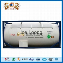 Refrigerant gas R125a with ISO-Tank