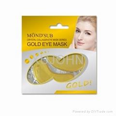 Gold collagen diamond eye mask