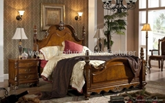 Antique solid wood bedroom furniture
