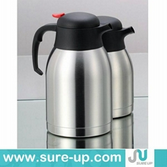 Double wall stainless steel coffee pot, tea pot