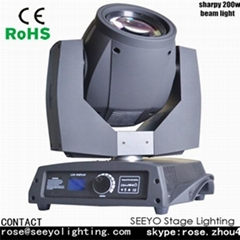 Beam 200W with 5R lamp Moving Head Lighting for Stage