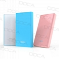 DOCA D605 6500mAh External Power Bank for Mobile Phone