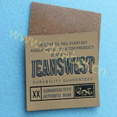 2014 custom factory design leather patches for jeans&jackets