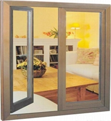 Aluminum casement window