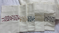 Hand embroidery pattern bed sheet
