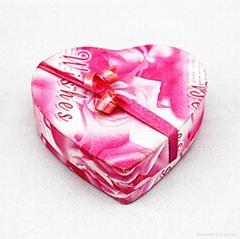 欧式创意结婚喜糖盒心形礼巧克力盒