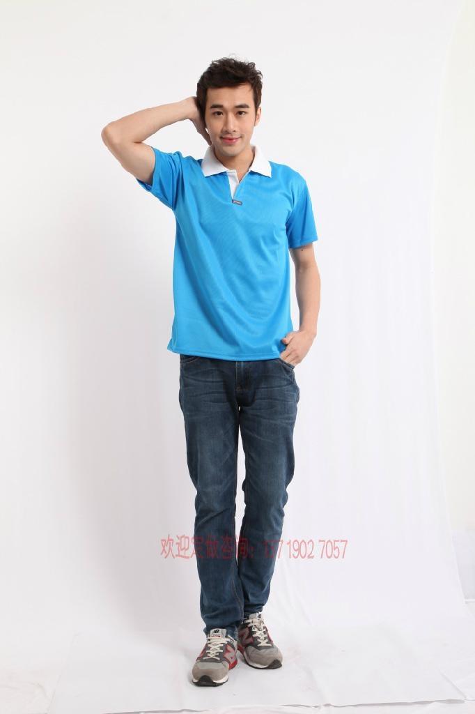 2095SGT新款排汗撞色领T恤衫 2