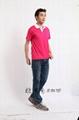2095SGT新款排汗撞色领T恤衫 4
