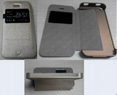 Iphone4/4S standing leather case