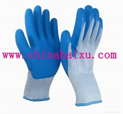10 gauge fine yarn shell with latex cated gloves