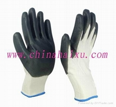 Polyester shell with nitrile coated gloves