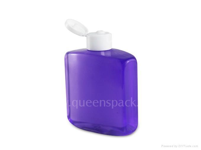 PET bottle with flip top cap 1